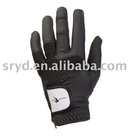 Black Pu Synthetic Golf Glove