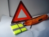 safety kit/warning triangle E-MARK,safety vest CE