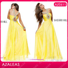 AZ0611 Beading Yellow Fashion Party Wear Cocktail Dresses