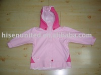 kids wear with PU bounded fabric(HS-J009)