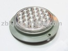 "LED trailer lights,4""Round BU Lamp, Clear"