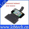 Mini Bluetooth Wireless Keyboard with Leather Case for iPhone 4