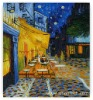 Rep 50*60cm Oil Painting Van Gogh Cafe Terrace at Night