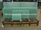 Runxuan glass -4mm+0.38mm+4mm clear curved laminated tempered glass with ISO9001