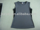 ladies' fashion cool gray sports vest and tops interlock