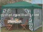 3*3M foldable gazebo with stripe sidewalls