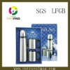 promotion gift stainless steel vacuum flask with two coffee mug