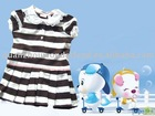 cotton stripe girls dress