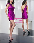 Purple one strap design short fancy dress for girls