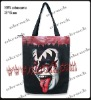 kiss bag rock punk bag shopping sack