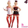 Sexy Nurse Costume, Nurse Dress with Lace Trim CT0229, Sexy Lingerie