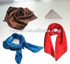 2012 Fashion Classic Single Color Stlye Square Satin Scarf
