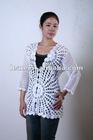 New style elegent pure handcrochet ladies' fashion blouse 2012