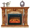 Luxurious wooden fireplaces for interior decoration