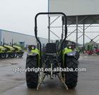 55HP 4WD farm tractor with right side 12F+4R shift,hydraulic steering,3points linkage,traction system,4 in 1 bucket