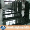 France style shanxi black granite designed tomstone