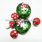 Cute and Nice Mushroom Lampwork Glass Loosely Beads