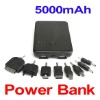 Dual USB Port 5000mAh External Battery Power Bank for iPhone iPod Blackberry LG