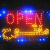 Animated LED Neon open Light store cafe Open Sign