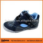 blue color PU+ leather children shoes in european style