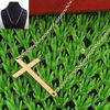 new style gold plated stainless steel chain w/cross pendant