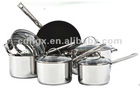 10pcs stainless steel casserole cookware sets