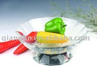Transparent crystal glass plates