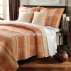 Egypt style cotton patchwork quilt bedding set grid pattern
