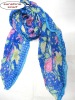 Blue color spring scarf ,made in yiwu scarf