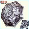 City color printed art offset umbrella