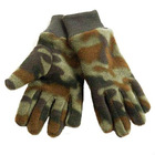camouflage fleece glove with knitted wrist