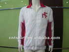 Men's printing white & red 70% cotton 30% polyester hoodie