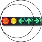 led traffic light SPJD (1/1W)200-3-2+FX200-3-3