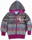 F3182#GREY Ready made quality fresh stock wholesale girl cartoon printed hoody