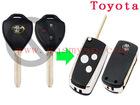 toyota modified remote key blank 3 button flip car key shell