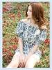 2012 new women's collar collar short sleeve Blouses Shirt =LD-TS0077