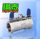 Stainless Steel 1PC Ball Valve Butterfly Handle[Material:SS304,SS316],[Pressure:1000PSI],[Thread:NPT,BSP,BSPT,DIN2999]