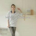 2012 lady pullover bat slssves loosen stripe round collar t shirts