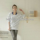 2012 lady pullover bat slssves loosen stripe round collar t shirts