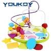 children muti-shape wooden bead toy
