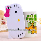 Cute Design 3D Cartoon Hello Kitty PC+TPU Cover Case for iPhone 5