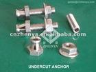 INOX AISI304 A2 SS316 A4 UnderCut Anchor System For Facade Cladding,Under Cut Bottom Anchor 6*25,Keil Anchor