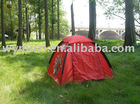 kids play outdoor using camping dolorful dome tent