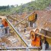 Belt conveyor for gravel crushing plant