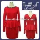 Crystal beaded ladies designer skirt suit,back V-neck women suit,neck designs for ladies suit 2012