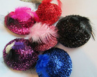 7cm mini sequin dance top hats craft
