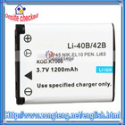 3.7V 1200mAh Li-40B Digital Camera Battery for Olympus