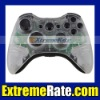 NEW Custom Transparent Clear Shell for Xbox 360 Controller Housing With Glossy Black Inserts Buttons Accessories