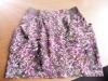 women's fashion elastic waist printed mini skirt