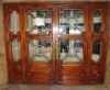 solid wood entrance door antique style in cherry color